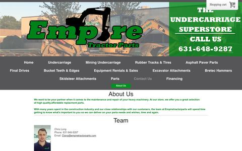 Screenshot of About Page empiretractorparts.com - Your #1 heavy equipment parts supplier in new york - captured July 8, 2018