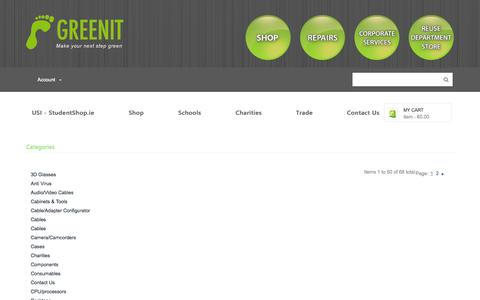 Screenshot of Site Map Page greenit.ie - GreenIT - captured Oct. 29, 2014