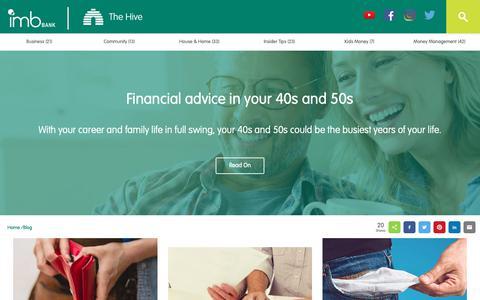 Screenshot of Blog imb.com.au - Blog - IMB Bank - captured Oct. 1, 2018
