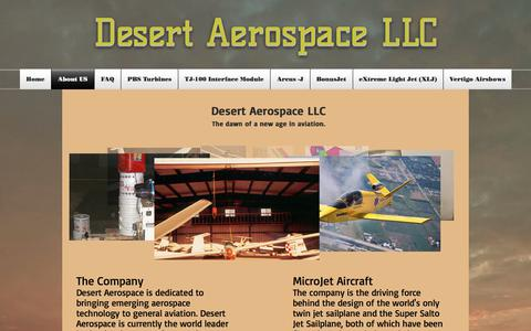 Screenshot of About Page desertaerospace.com - desertaerospace | About US - captured Oct. 12, 2017
