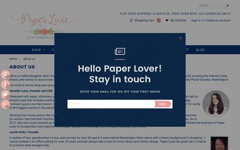 Screenshot of About Page paper-luxe.com - About Us – Paper Luxe - captured June 11, 2017