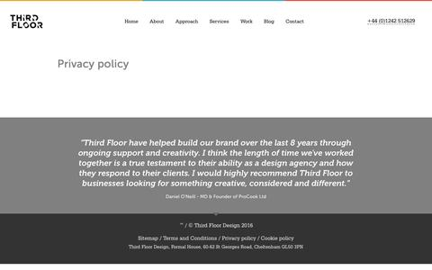 Screenshot of Privacy Page thirdfloordesign.co.uk - Privacy policy / Third Floor Design - captured Jan. 12, 2016