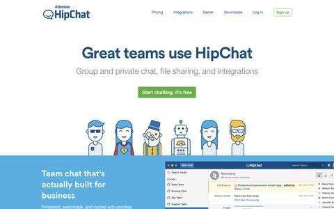 HipChat - Private group chat, video chat, instant messaging for teams | HipChat