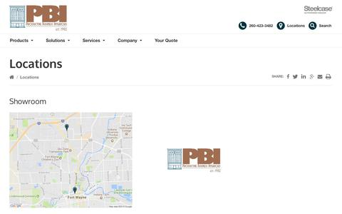 Screenshot of Locations Page pbiftwayne.com - Locations Archive - PBI - captured Sept. 30, 2018