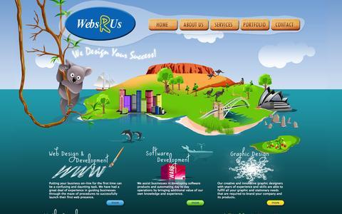 Screenshot of Home Page websrus.com.au - Webs R Us Australia - captured Oct. 1, 2014