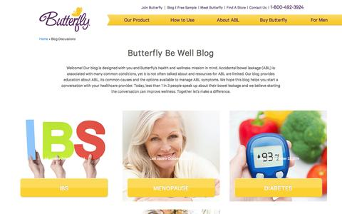 Screenshot of Blog butterfly.com - Butterfly Be Well Blog - Accidental Bowel Leakage (ABL) - captured Nov. 3, 2014