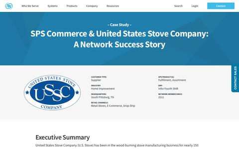 Screenshot of Case Studies Page spscommerce.com - U.S. Stove Company | SPS Commerce - captured Oct. 24, 2018