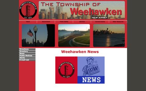 Screenshot of Press Page weehawkennj.us - The Township of Weehawken - NEWS - captured Oct. 26, 2014
