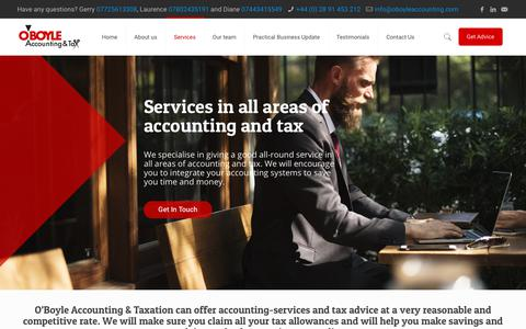 Screenshot of Services Page oboyleaccounting.com - Accounting Services – O'Boyle Accounting & Taxation - captured Oct. 19, 2018