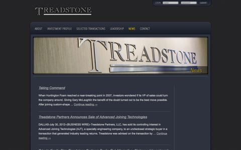 Screenshot of Press Page treadstone.com - News | Treadstone - captured Oct. 7, 2014
