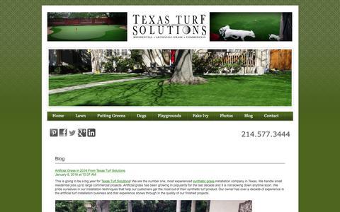 Screenshot of Blog texasturfsolutions.com - Texas Turf Solutions Blog - captured Jan. 11, 2016