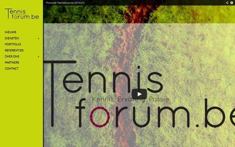 Screenshot of Home Page tennisforum.be - Tennisforum.be | Kennis. Ervaring. Passie. - captured Oct. 7, 2014