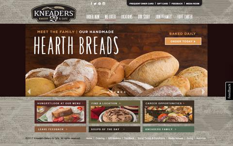 Screenshot of Home Page kneaders.com - Kneaders Bakery & Cafe - Home - captured Sept. 30, 2017