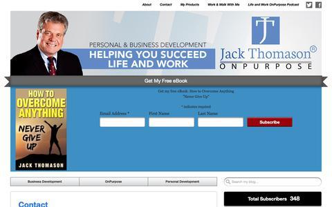 Screenshot of Contact Page jackthomason.com - Contact | - captured Dec. 16, 2018