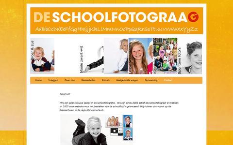 Screenshot of Contact Page deschoolfotograag.nl - Schoolfotograaf adresgegevens - captured Jan. 8, 2016