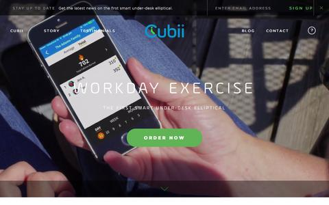 Screenshot of Home Page mycubii.com - Cubii | Work Out While You Work - captured Jan. 5, 2016