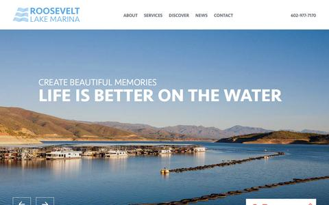 Screenshot of Home Page rlmaz.com - Roosevelt Lake Marina Roosevelt Lake AZ - captured Feb. 13, 2016