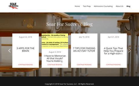 Screenshot of Blog soarforsuccess.com - Blog | Soar For Success, LLC - captured Sept. 20, 2018