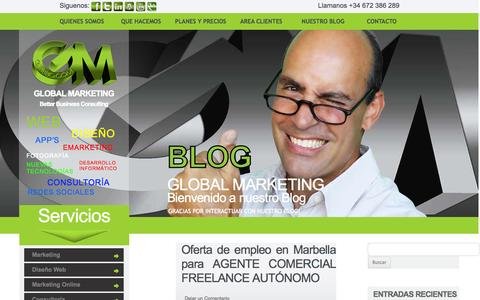 Screenshot of Blog gmbbc.com - Blog de Global Marketing - Global Marketing - captured Oct. 1, 2014