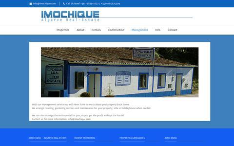 Screenshot of Team Page imochique.com - Management | Imochique - captured June 7, 2017