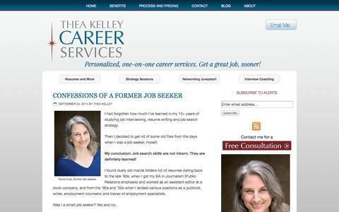 Screenshot of Blog theakelley.com - Blog | Thea Kelley Career Services - captured Oct. 9, 2014