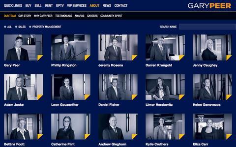 Screenshot of Team Page garypeer.com.au - Our Team | Gary Peer Real Estate - - captured Oct. 2, 2014