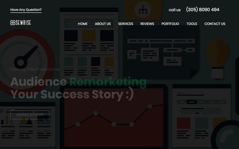 Screenshot of Home Page semrise.com - Free website audit, digital marketing service, seo tools - captured July 25, 2018