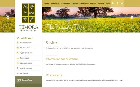 Screenshot of Services Page nsw.gov.au - Temora Shire Council - captured Oct. 26, 2014