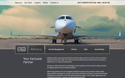 Screenshot of Home Page elitavia.com - Elit'Avia - captured Sept. 29, 2014