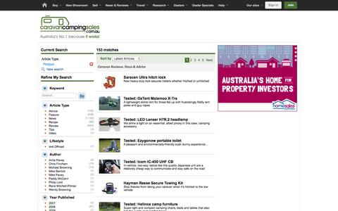 Screenshot of Products Page caravancampingsales.com.au - Caravancampingsales - Reviews, News & Advice - captured Feb. 12, 2016