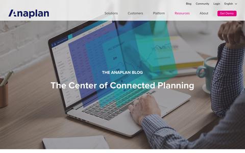 Anaplan Blog | Anaplan