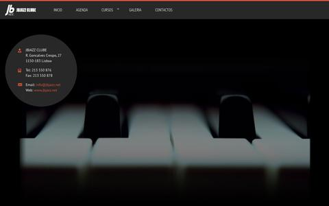 Screenshot of Home Page jbjazz.net - JBJAZZ CLUBE - captured April 27, 2016
