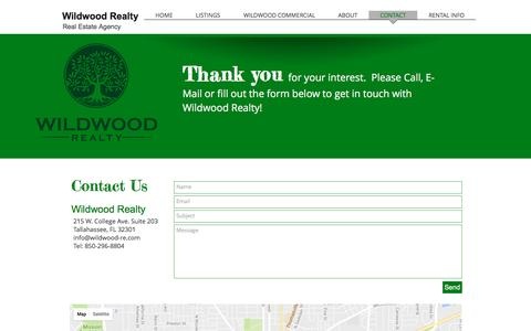 Screenshot of Contact Page wildwood-re.com - wildwoodrealty | CONTACT - captured Dec. 11, 2016