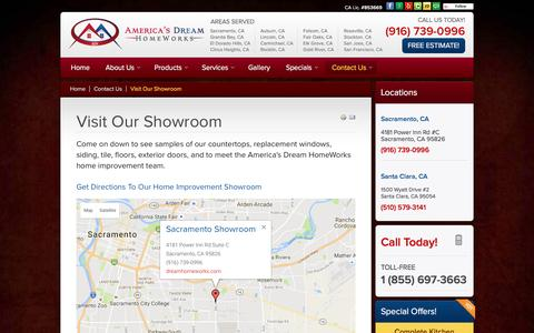 Screenshot of Maps & Directions Page dreamhomeworks.co - Sacramento Home Improvement Showroom - captured Nov. 20, 2016