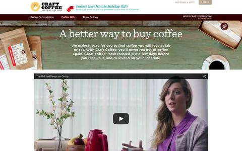 Screenshot of About Page craftcoffee.com - Better Way to Buy Coffee | Craft Coffee - captured Dec. 23, 2015