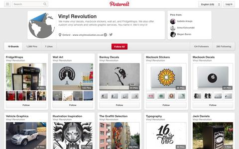 Screenshot of Pinterest Page pinterest.com - Vinyl Revolution on Pinterest - captured Oct. 26, 2014