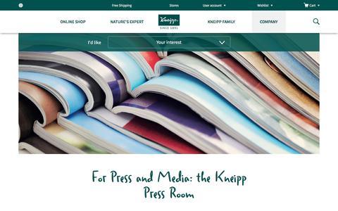 Screenshot of Press Page kneipp.com - Press | Kneipp - captured Nov. 27, 2016