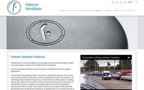 Screenshot of Products Page flettner.co.uk - Products - Flettner - captured Nov. 25, 2016