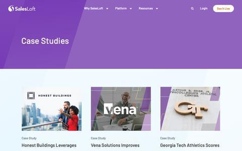 Screenshot of Case Studies Page salesloft.com - Case Studies - SalesLoft - captured June 6, 2019