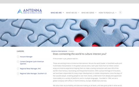 Careers - Antenna International