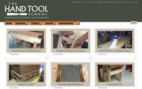 Screenshot of Products Page handtoolschool.net - Downloads Archive | The Hand Tool School - captured Dec. 1, 2018