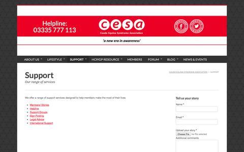Screenshot of Support Page cesassociation.org.uk - CESA :: Support - captured Oct. 2, 2014