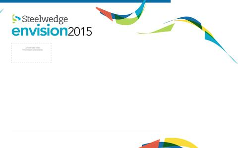 Envision 2015 | Steelwedge Software