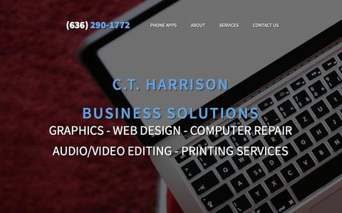 Screenshot of Home Page About Page Contact Page Services Page ctharrison.com - Home - captured July 15, 2018