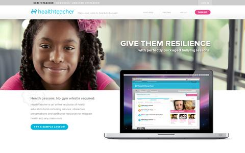 Screenshot of Home Page healthteacher.com - HealthTeacher - captured July 11, 2014