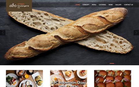 Screenshot of Home Page artisanbakery.com.sg - Artisan Boulangerie Homepage - Artisan Boulangerie - captured Feb. 6, 2016