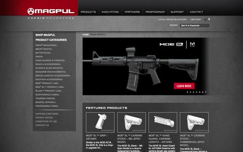 Screenshot of Products Page magpul.com - Magpul Industries Ecommerce - captured Sept. 24, 2014