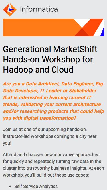 Generational MarketShift Hands-on Workshop