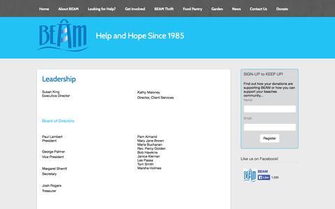 Screenshot of Team Page jaxbeam.org - Jax BEAM Leadership - Jax BEAM - captured Oct. 27, 2014