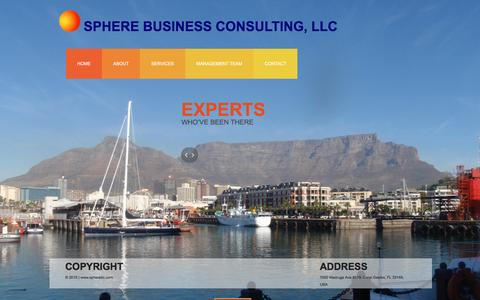 Screenshot of Home Page spherebc.com - Sphere Business Consulting, LLC - captured Feb. 17, 2016